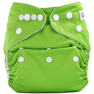 Bumberry Pocket Diaper (Deep Green) and 1 Microfiber Insert