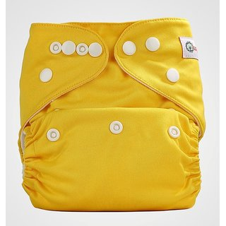Bumberry Pocket Diaper (Highlight Yellow) and 1 Microfiber Insert
