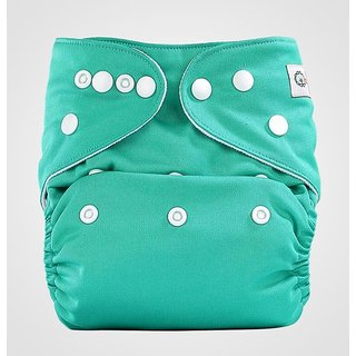 Bumberry Pocket Diaper (Blue Green) and 1 Microfiber Insert