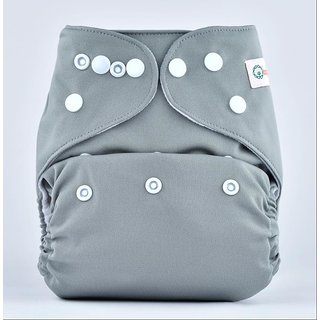 Bumberry Pocket Diaper (Grey) and 1 Microfiber Insert