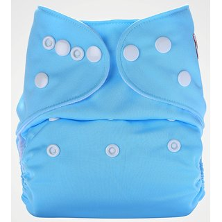 Bumberry Pocket Diaper (Baby Blue) and 1 Microfiber Insert