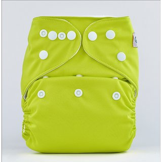 Bumberry Pocket Diaper (Bright Green) and 1 Microfiber Insert