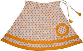 Flora Self Design Cotton  Skirt  For Girls