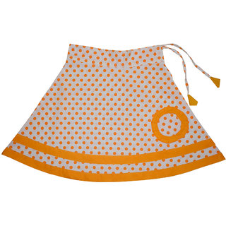 Flora Self Design Cotton  Skirt  For Girls
