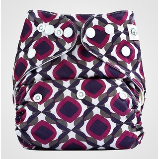Bumberry Pocket Diaper (Beetroot) and 1 Microfiber Insert