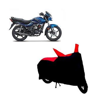 Blays Black-Red-Premium Matty Bike Body Cover For Hero Passion Xpro