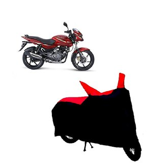 Blays Black-Red-Premium Matty Bike Body Cover For Bajaj Pulsar 150 DTS-i