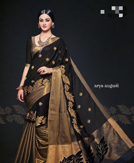 Elagant black saree with blouse