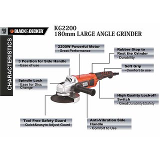 Black Amp Decker 180mm Angle Grinder Prices In India