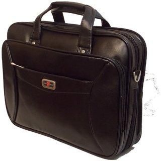 ead7a2f33a Long Dun Black Leather Look Laptop  Executive Bag