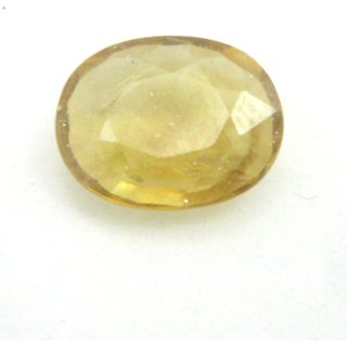 Akshata 5.007 Carat Natural Yellow Sapphire ( Pukhraj) , Lab Certified