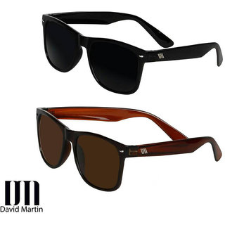 David Martin Combo of Black  Brown Wayfarer Sunglass