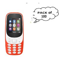 Set Of 100 I Kall K3310 (1.8 Inch Dual Sim ) Multimedia