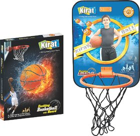 Kirat Exiciting Basket Ball Set for Indoor and Outdoor ,Multicolor By Krasa