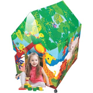 Kirat Colorfull Safari Play Tent House With Light and Wheels Multicolor By Krasa