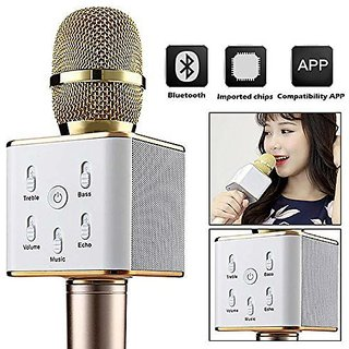 Latest Wireless Karaoke Condenser Mic/Microphone with portable Bluetooth Speaker
