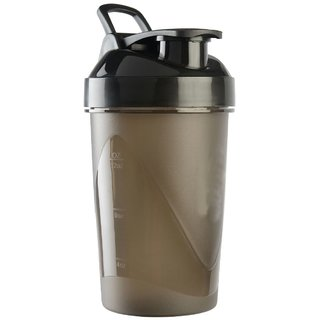 CP Bigbasket Gym Shaker, Sipper Black 400 ml (Pack of 1)