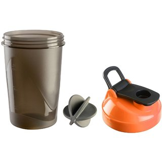 CP Bigbasket Gym Shaker, Sipper 400 ml Orange (Pack of 1)