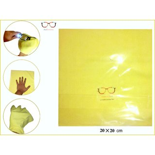 Microfibre yellow CLEANING Cloth (Pack of 20) MICROSCOPE MIRRORS