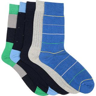 Arrow Mens Formal Calf Length Cotton Pack of 5 Pair Socks