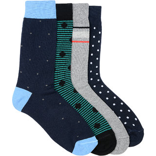 Arrow Mens Formal Calf Length Cotton Pack of 4 Pair Socks