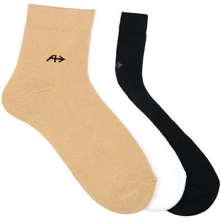 Arrow Mens Sport Ankle Length Soft Cotton Pack of 3 Pair Socks