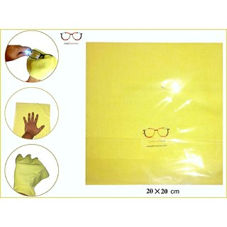 Microfibre yellow CLEANING Cloth (Pack of 5) FOR ALL TYPE OF LENSES