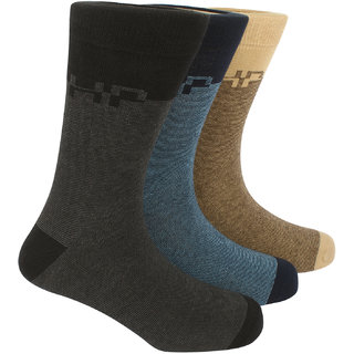 Hush Puppies Mens Formal Calf Length Socks Geometric Pack Of 3 Pair