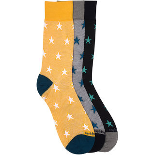 Hush Puppies Mens Formal Calf Length Pack of 3 Pair Soft Combed Cotton Socks