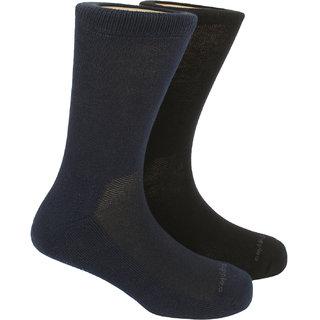 Hush Puppies Mens Health Calf Length Socks Plain Pack Of 2 Pair