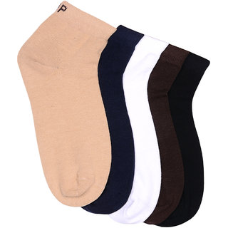 Hush Puppies Mens Casual Ankle Length Soft Cotton Pack of 5 Pair Socks