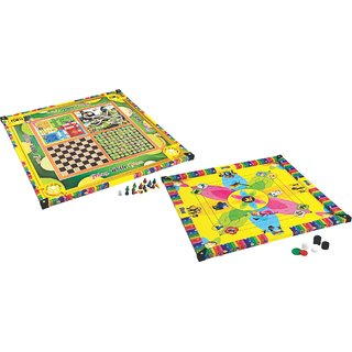 Kirat 2-In-1 Small Carrom Board With Ludo Game For Kids