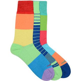 Mojeme Men's Formal Calf Length Soft Cotton Pack of 3 Pair Socks