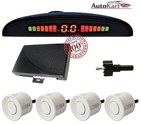 White Car Parking Sensor System for Universal