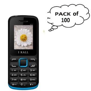 Set of 100  IKall K11 (1.8 Inch  Dual Sim  800mAh Battery  Made In India) Multimedia mobile