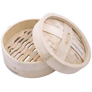 Godskitchen 6 - Round Shape Momos / Dimsum / Wanton Steamer Bamboo Box - Round Shape Momos Bamboo Basket