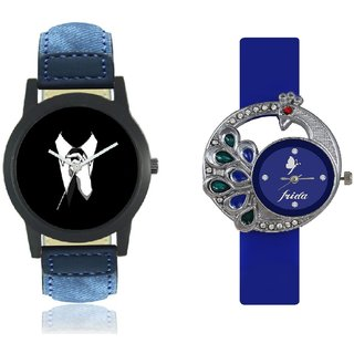 Stylish Denim Blue Professional Analog Wrist Combo Watch