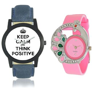 Mens Positive And Pink More Analog watch
