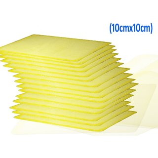 Microfibre yellow CLEANING Cloth (Pack of 10) FOR MICROSCOPE (10CMS X10 CMS)(pack of 10 pcs)