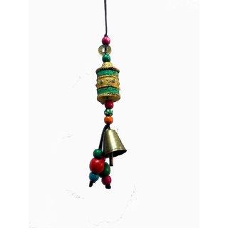 Tibetan Vintage Prayer Wheel  Bell Lucky Charm Hanging