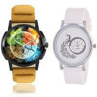Women's Men's Soft Leather And Pu Quartz Lover's Gift S
