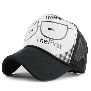 FRIENDSKART Printed The First Check Black Colour Half Net Cap,Trucker Cap For Boys And Girls Cap