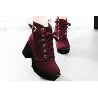 STREETSTYLESTORE Women's Maroon Boots