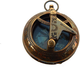 Details about  2 Brass Antique Pocket Sundial Compass  Nautical Maritime For Charistmas Gift