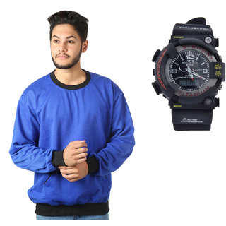 Kristof Blue Sweatshirt With Sportswatch