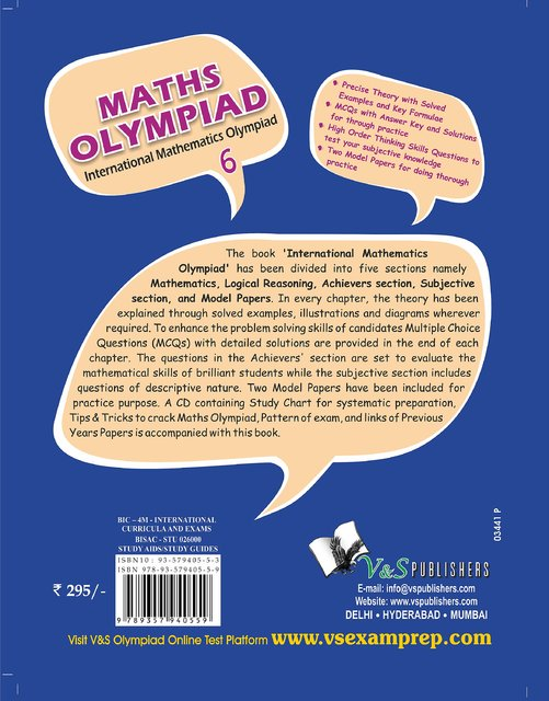 INTERNATIONAL MATHS OLYMPIAD - CLASS 6