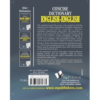 ENGLISH - ENGLISH DICTIONARY (POCKET SIZE)