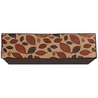 Glassiano Leaves Printed AC Cover for Split Indoor Unit for 1.5 Ton