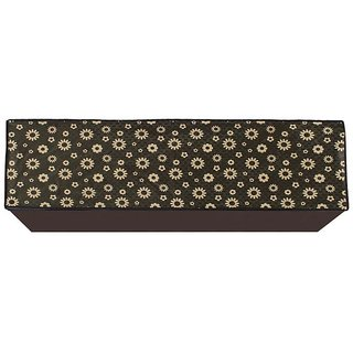 Glassiano Yellow Floral Printed AC Cover for Split Indoor Unit for 1.5 Ton