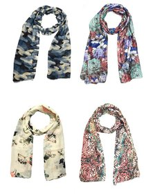 Sri Belha Fashions New Design Muffler Scarf Stole  Scarves Set Of- 4